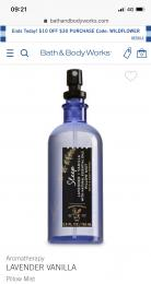 PIllow Mist (bath and body works)