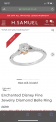 Diamond Belle ring size P